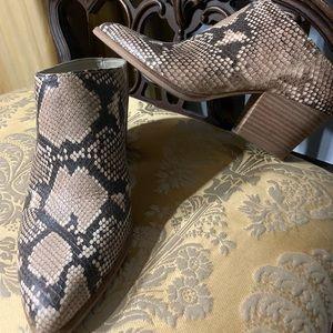 Dolce Vita snake print mules Size 8